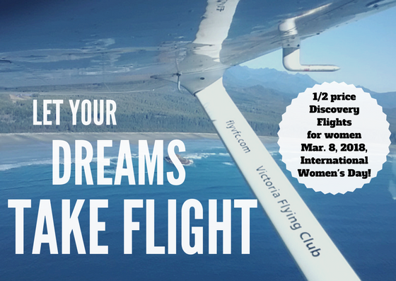 1/2 price Discovery Flights on March 8th!